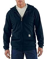 Carhartt Zip-Front Hooded Sweatshirt, Dark Navy