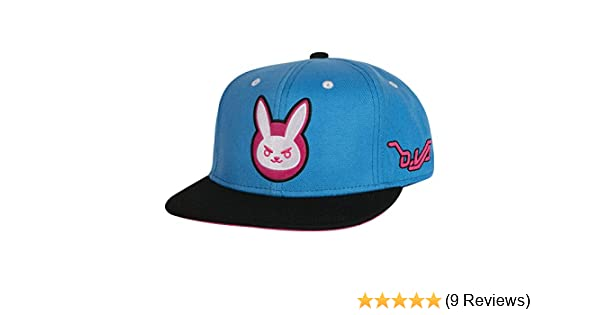 Blue//Black One Size JINX Overwatch D.Va Target Snapback Baseball Hat