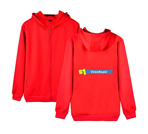 E Aivosen Outwear Casual Unisex Uomini Pile Per Red Invernale Donne Con Cappotto Felpa Zip Allentato Sweatshirts Fortnite wgwCA6q
