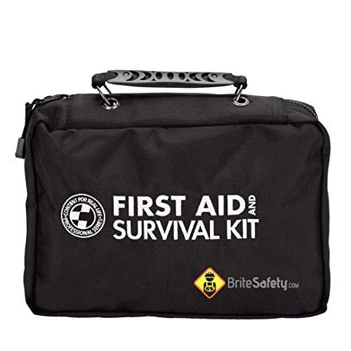 (Deluxe Emergency Preparedness Kit Ballistic Nylon Black Carry Case  Emergency Survival Kit 72 Hour Emergency Backpack Survival Backpack)