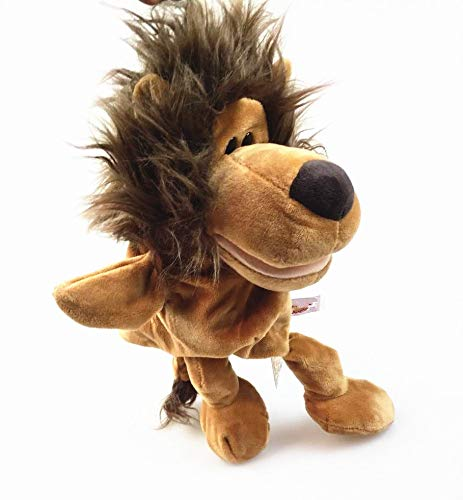 GOONEE Cartoon Plush Toy - Cute Cartoon Plush Baby Toy Puppet Ladybug Wolf Giraffe Raccoon Crocodile Stereo Hand Puppet Stuffed Animal - Lion - Soft Unicorn Monkey Kids Girls Storage