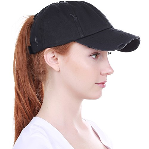 All-Hat-Ponytail-Vintage-Sports-Glitter-Messy-High-Bun-Hat-Ponycaps-Adjustable-Cotton-and-Mesh-Trucker-Baseball-Cap