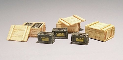 Plus Model 1:35 US Ammunition Boxes-Vietnam Resin Diorama Accessory - Us Resin