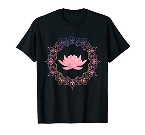 Lotus Mandala Circle | Spiritual Yoga T Shirt ()