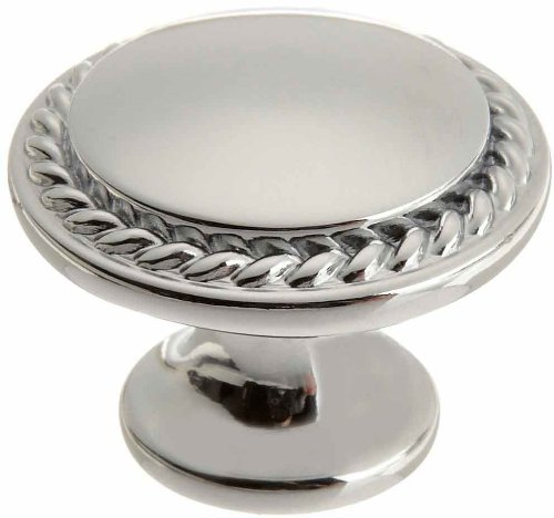 Taymor 20-1314PC Nautilus Rope Edge 1-1/4-Inch Knob, Polished Chrome - Polished Chrome Rope