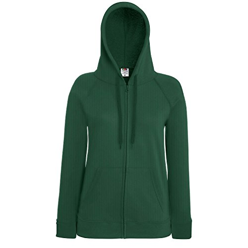 Fruit of the Loom - Sudadera con capucha - para mujer verde botella