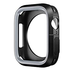 SLEO Watch Case for New Apple Watch Series 4 Case,SLEO Ultra Thin Anti-Scratch Flexible Soft Shock Resistant TPU Screen Protector Cover for New Apple Watch Series 4 40mm - Grey