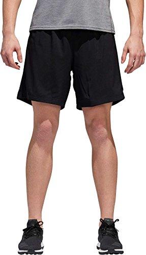 adidas Mens Running Response Shorts, Black/Black, Small/9