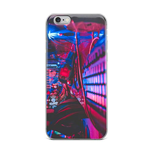 iPhone 6 Plus/6s Plus Case Anti-Scratch Gamer Video Game Transparent Cases Cover Alive in The Night Gaming Computer Crystal Clear ()