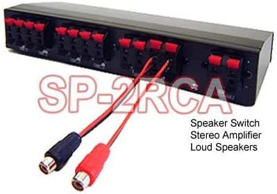 Speaker Wire to RCA Adaptor for High-Level Signal Connection to Amp