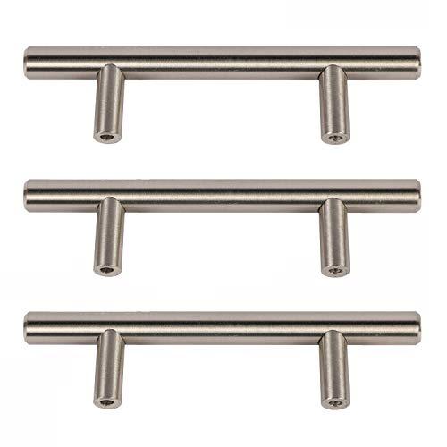 Satin Nickel Porter Handle Drawer Pull 3 in 10-Pack