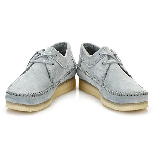 Clarks Femmes Bleu/Gris Suède Weaver Chaussures