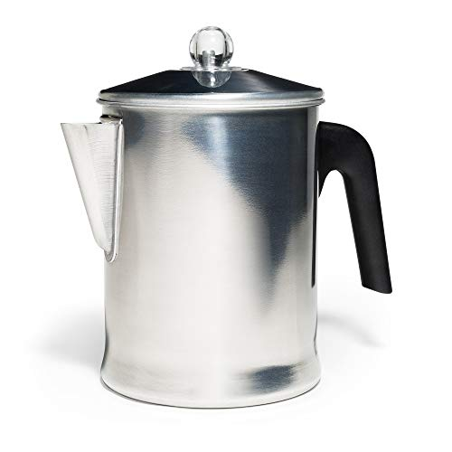 Primula TPA-3609 Today Aluminum Stove Top Percolator Maker Durable, Brew Coffee On Stovetop, Grill Or Campfire