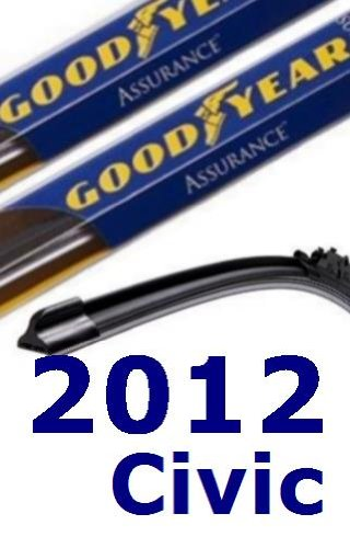 2012 Honda Civic Recambio parabrisas limpiaparabrisas (2 cuchillas)