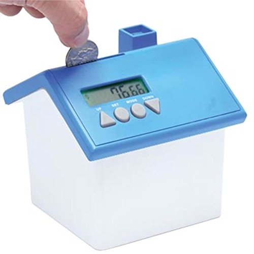 Talking Bank (StealStreet SS-KD-8935-BLUE LCD Time/Calendar Coin Activated Voice Readout Bank, 4.5