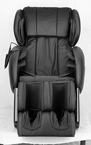 Luxus Massagesessel Shiatsu F2000 Leder Schwarz Mit Rollentechnik