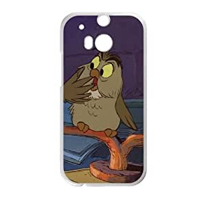 HTC One M8 Cell Phone Case White The Sword in the Stone Character Archimedes mjgn
