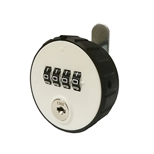 MICG Combination Cam Fitting Room Cabinet Lock with 4 Digit Code Key Password Security Coded Locks For Box Cerradura (Black-white)