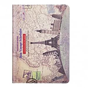 Europe Scenic Spots Grain Pattern PU Leather Case For iPad Air