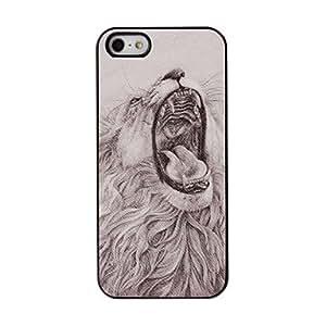 MOFY-Rugido del le—n pegar Modelo de la piel de pl‡stico duro caso para iPhone 5/5S
