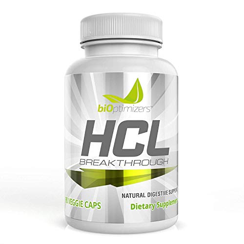 HCL Breakthrough - All-Natural Digestive Support - Improve Gut Health - Prevent Acid Reflux + Heartburn - 90 Capsules