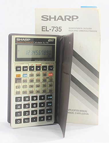 amazon com sharp el 735 business data calculator owner s manual rh amazon com sharp business financial calculator el-735 manual Sharp EL 1801V Calculator Ribbon