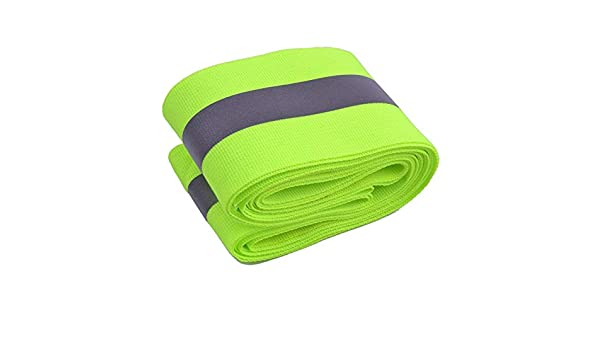 DierCosy Reflective Tape Sewing Lime Green Gray Warning Warning Trim Fabric Fabric Safety Vest Fabric Reflective Ribbon Green Gray Sewing 3 m DIY Tools