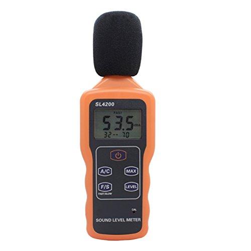 デジタルメーター 騒音計 サウンドレベルメーター ポータブルLCDデジタルサウンドレベルメーター デシベルデータロガー 30〜130dB SL4200(SL4201 USB付き ) 高精度テスター (Style : SL4200)