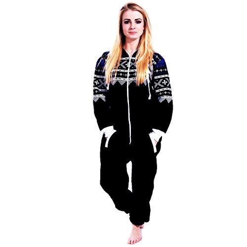 newfacelook women ladies stylish printed onesie hoody one. Black Bedroom Furniture Sets. Home Design Ideas