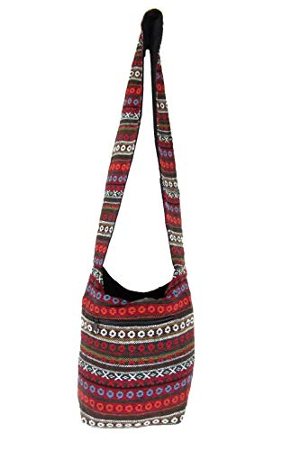 - Small Aztec Shoulder Bag Bohemian Hippie Hobo Boho Sling for Women Girls (Mandarin Rings)
