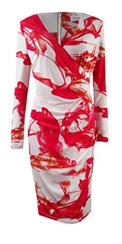 Anguria Più Dress Jersey Finto Delle Klein Stampato Calvin Donne wrap aBxwOS
