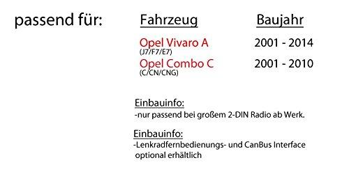 Einbauset f/ür Opel Vivaro A Combo C Pioneer AVH-X390BT Autoradio JUST SOUND best choice for caraudio Smartphone kompatibles Multimedia Autoradio 2DIN Bluetooth