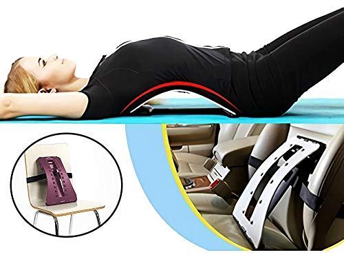 Magic Back Stretcher Lumbar Support Device Massager Posture Corrector for Upper and Lower Back Pain Relief -Purple by Magic Back Support (Image #3)
