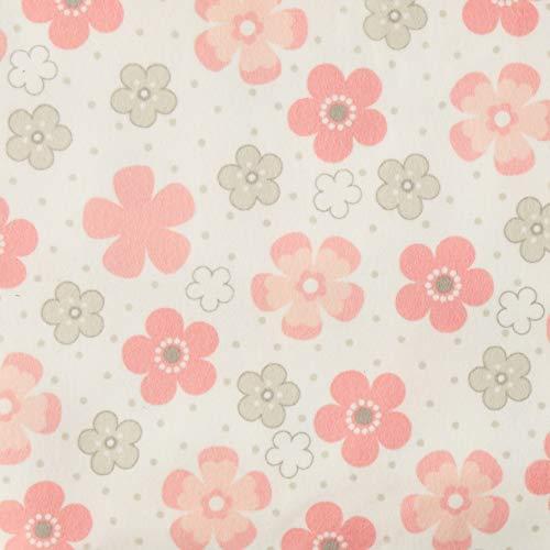 Flannel Daisies - Robert Kaufman Kaufman Cozy Cotton Flannel Daisy Flower Pink Fabric by The Yard,