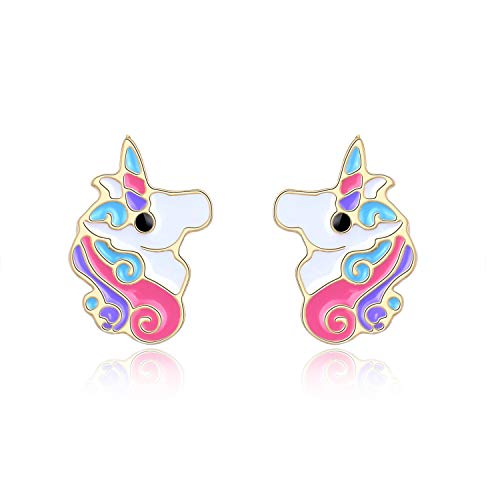 Unicorn Earrings For Girls Hypoallergenic Gold Unicorn Cute Stud Earrings Jewelry Birthday Party Gifts Savesoo Com