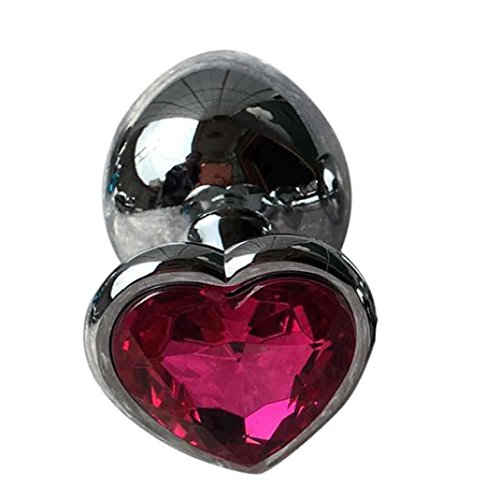 Sex Toy, Hatop Berg Crystal Silver Colour Metal Backyard Stainless Steel Plug Anal Hitch (Hot Pink)