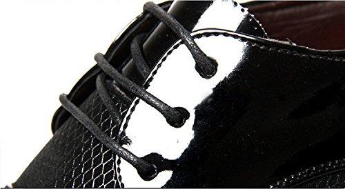 Basse 48 Uniforme Cuoio 38 Matrimonio Vintage Stringate Pelle Moda Marrone Derby Brogue Oxford Nero Nero Scarpe Estate Elegante Uomo Sera xfIOqwvU