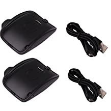 Hagibis replacement Samsung Galaxy Gear S R750W Smart Watch Chargers (2 pcs charger)