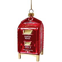 Macy's Yes Virginia Mailbox Glass Christmas Ornament 2013 Edition