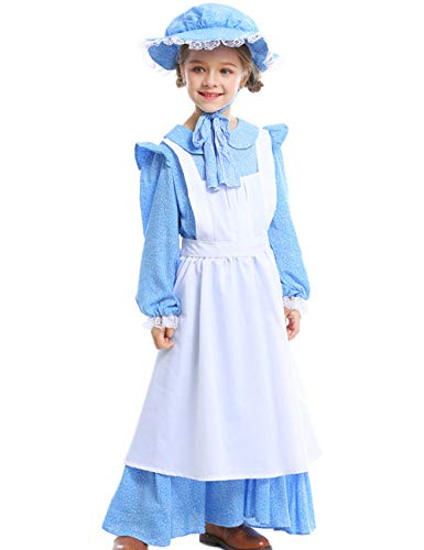 A&J DESIGN Toddler Girls Prairie Costume with Hat