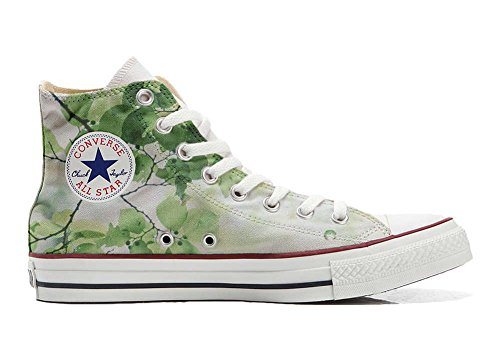 Converse All Star Customized - Zapatos Personalizados (Producto Artesano) Green Flor