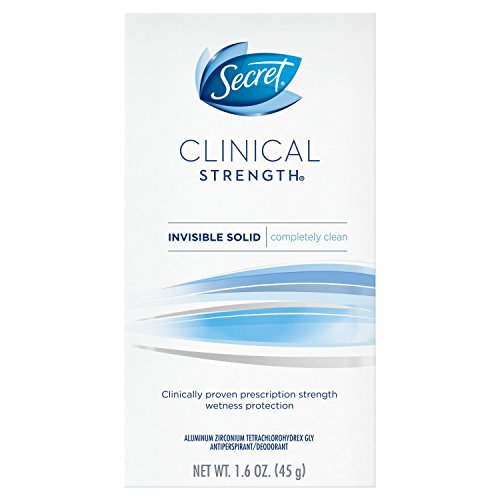 Secret Clinical Strength Invisible Solid Women's Antiperspirant & Deodorant Completely Clean Scent, 1.6 Fluid Ounce
