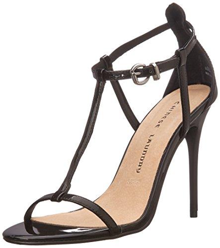 Chinese Laundry Leo patente sandalias de vestido de la mujer Black