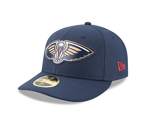 NBA New Orleans Pelicans Adult Bevel Team Low Profile 59FIFTY Fitted Cap, 7 5/8, Oceanside Blue