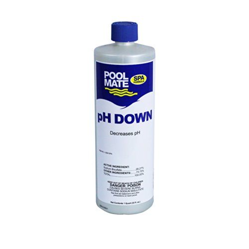 - Pool Mate Spa 1-2301SPA pH Down pH Reducer for Spas and Hot Tubs, 1-Quart