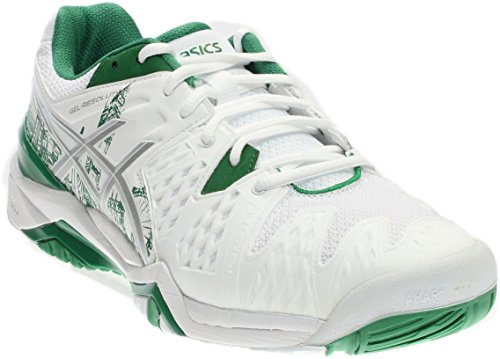 Asics Mens Gel-resolution 6 Le London Ankle-alta Scarpa Da Corsa Bianca