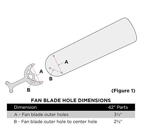 Wellington 7741000 42-Inch Oak/Walnut Replacement Fan Blades, Five-Pack by Westinghouse Lighting (Image #1)
