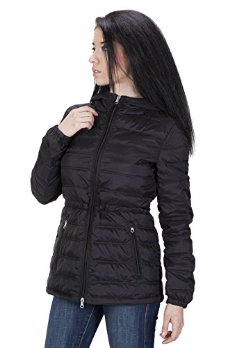 United Face Womens Ultra Light Hooded Down Jacket Medium Black (United Face Down Jacket compare prices)