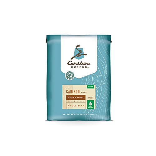 Caribou Coffee, Caribou Blend, Decaf, Foundation, Value Pack 40 oz. Bag, Smooth & Balanced Medium Roast Coffee Blend from the Americas & Indonesia, with A Syrupy Body & Clean Put an end to; Sustainable Sourcing