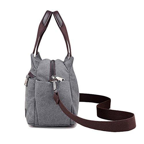 à Tout JOSEKO Bandoulière Bag épaule Gris Fourre Hobo Sacs Femmes Ladies Main Vintage Toile à Sacs 7EznOq